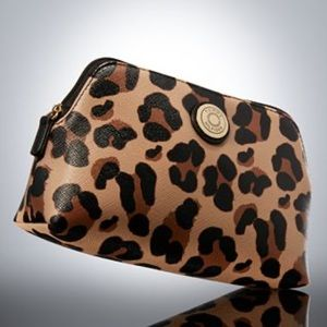 Leopard Print Cosmetic Bag Travel - Tommy Hilfiger
